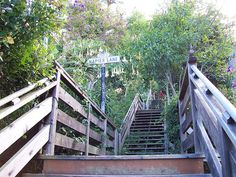 The Filbert Steps - The intersection of Filbert Street and Napier Lane on Telegraph Hill.
