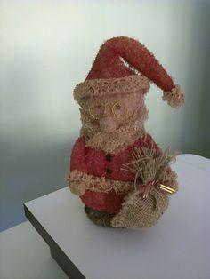 Papai Noel em bucha vegetal otimo para decoraçao de casa e lojas....