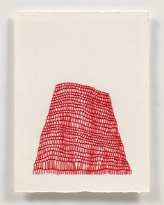 thread on paper drawings  by emily barletta