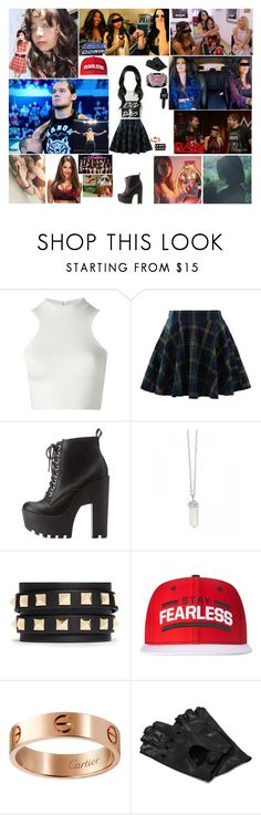 """WWE RP"" by kaelighofficial ❤ liked on Polyvore featuring Versace, Chicwish, Charlotte Russe, Valentino, WWE, Cartier and Napoli"
