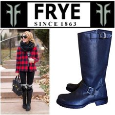 BLACK FRYE VERONICA BOOTS Size 6 worn but has much life and then still! Frye Shoes Combat & Moto Boots
