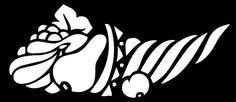 Otra imagen clásica de los estarcidos son los cuernos de la abundancia. Este es un diseño sencillo, para empezar.