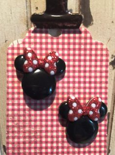 Mickey & Minnie Mouse earrings on nickel free posts. penny to