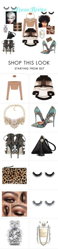 """""""We all have Choices..........................."""" by ayanabrown on Polyvore featuring Delpozo, Carolee, Christian Louboutin, Gianvito Rossi, Clare V., Victoria's Secret and Chanel"""