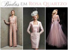 O QUE VESTIR NAS BODAS?! ROSA QUARTZO 2016 Esqueça os tons neutros, o look para renovar os votos merece um toque de jovialidade, leveza e romantismo… E o rosa quartzo é perfeito para isso!!! Inspirações para o traje de bodas.