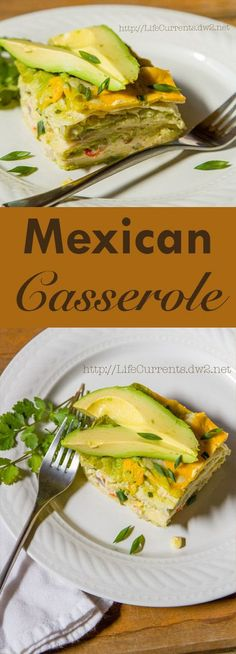 Mexican Casserole, makes a big casserole, so that you can have delicious leftovers for days! And, it's loaded with veggies!