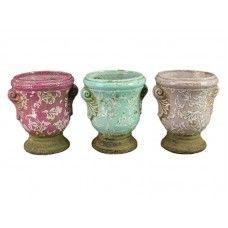 Ghivece Purple set 3 buc H14,5 Sugar Bowl, Bowl Set, Planter Pots, Purple, Vintage, Purple Stuff, Vintage Comics, Primitive