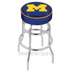 Triple Chrome-plated Swivel Bar Stool for all you #Michigan fans out there!