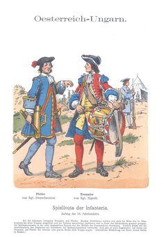 Band X #6 -  Österreich-Ungarn. Spielleute der Infanterie zu Anfang des 18. Jahrhunderts.
