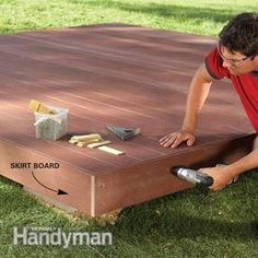 build an island deck - saves times and $ - nothing attached to house plus shouldnt need a permit. Also costs less and can be put up from start to finish in 1 day! The area you want to add the deck to does need to be somewhat level. We had a 12x30 foot deck built and it was $1400 with all supplies and labor. Took around 7 - 8'hours