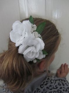 BRIDAL Simply roses Hair slide/Comb perfect by Craftswithchrissie, £6.00
