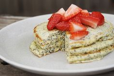 Lemon Poppy Seed Pancakes by pleasenote #Pancakes #Lemon #Poppy_Seed