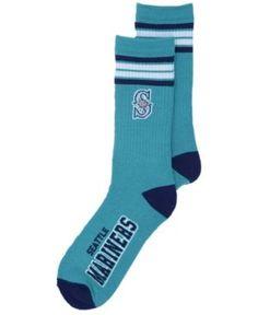 For Bare Feet Seattle Mariners 4 Stripe Deuce Crew Socks - Green L  Chaussettes Pour Hommes 790da4b2163