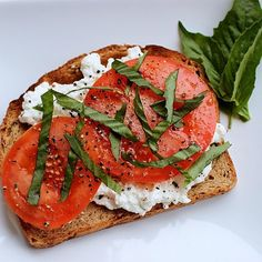 Looking for an afternoon pick me up? Try adding Cottage Cheese, Tomato, Basil and S&P to your favorite Ezekiel Toast!