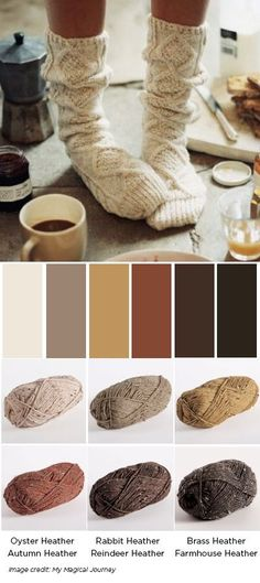 City Tweed Color Palette for knit and crochet
