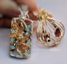 Wire Jewelry Tutorial - 2 Hinged Cages and a Locket - Instant Downloadable PDF File