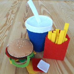 Felt Toys,Felt Foods Toy,Felt Fast Food Menü Toys by FeltCreationsbyDGNCY on Etsy