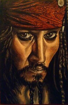 Jack Sparrow A4 oils For Sale £80