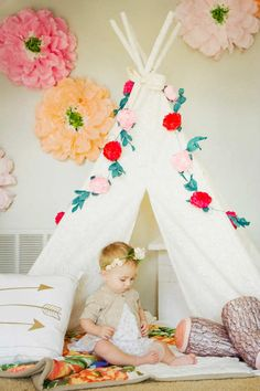 An innocent girly-girl backdrop - 10 Floral Girls Rooms   Tinyme Blog