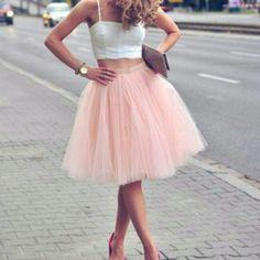 Pastel puffy skirt