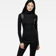 Top en ajuste Skinny muy favorecedor, en jersey grueso y maravillosamente elástico.