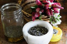 salve recipe....some one recommended combining the oils and herbs in a jar set in a crockpot of water on low to infuse the oil..must make