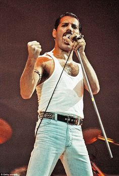 Paying tribute: Freddie Mercury was the iconic lead singer of rock band Queen - but sadly passed away in 1991