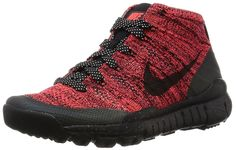 Nike Womens W Flyknit Trainer Chukka FSB Bright Crimson/Black-Sequoia Fabric * Details can be found by clicking on the image.