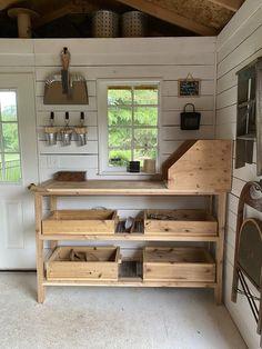 Garden Tool Storage, Shed Storage, Lumber Storage, Garden Shed Interiors, Garden Sheds, Garden Tool Shed, Shed Makeover, Shed Organization, Tool Shed Organizing