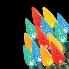 Home Accents Holiday 20-Light Battery Operated LED Multi-Color C3 Light Set