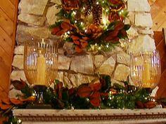 Monica Pedersen designs an elegant yet rustic holiday mantel.