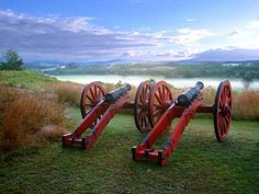Saratoga National Historical Park - beautiful location; hands on activities for kids