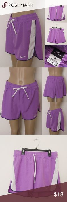 """Nike Tempo Shorts NIKE Tempo Dri Fit Running Shorts. Size M. Very Good condition! Worn once. Materials: 100% Polyester/ Measurements (laying flat): • Waist - 32"""" (around) • Length - 13"""" front /14"""" back (waist to hem) ~❌SWAP❌TRADE ~ ✔️❤️Bundles📦💕 ~✔️Smoke-free/pet-free home Nike Shorts"""