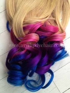 ombre hair pink and blue - Pesquisa Google