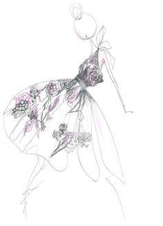 flower girl byTibi #sketch #illustration #fashion