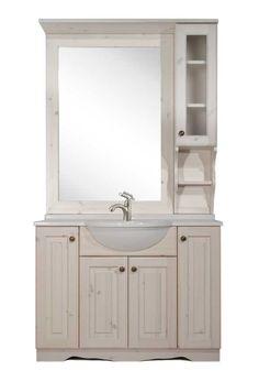 Mobile bagno in arte povera da 105cm con specchio e pensile color ...