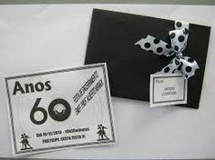 modelos de convites para festa anos 60 - Pesquisa Google
