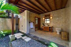 Outdoor shower at Villa Asmara (Cemagi, Bali)....I would love to hav this off my personal bedroom!