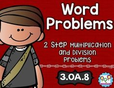 Two-Step Word Problems Math Tasks and Exit Tickets - Help your 3rd grade classroom or homeschool students master their two step word problems with these 5 math tasks, 5 exit tickets, and I can statements. You'll love using this with your third graders! You'll know you are comprehensively and effectively teaching your students all the skills required of the standards! $
