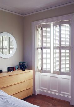 Basswood satin white shutters set the mood in any room.