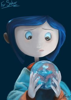 Coraline - trapped in the Snow Globe. Coraline Art, Coraline Jones, Coraline Movie, Tim Burton Style, Tim Burton Films, Coraline Aesthetic, Pixar, Clay Animation, Laika Studios