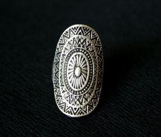 Ethnic Ring Boho Ring Antique Silver Ring by MimosaMilenaDobreva