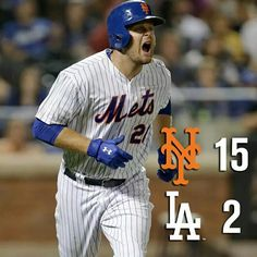 The Mets win a laugher against the Dodgers at Citi Field on 7/25/15 with a 15 run 21 hit day!