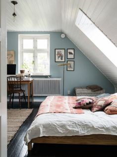 Wandgestaltung schlafzimmer dachschräge   Wandfarben   Pinterest