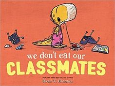 The best of the 'something gets eaten' picture book genre. Better even than Mother Bruce which I loved. It's funny, deals with first day jitters and has dinosaurs. What's not to love? Put this on the list and read it!