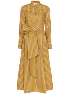 Shop online brown Evi Grintela Nicole striped shirt dress as well as new season, new arrivals daily. Modest Dresses, Day Dresses, Casual Dresses, Modest Fashion, Fashion Dresses, Mode Simple, Striped Shirt Dress, Cotton Shirt Dress, Look Fashion