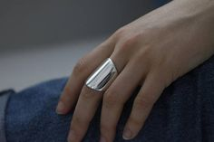 THOR Wide Cuff Ring Sterling Silver by jac&hugo Australia FREE