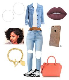 """""""Untitled #127"""" by breloved ❤ liked on Polyvore featuring NLY Trend, Victoria's Secret, Converse, Michael Kors, Arizona, Kevin Jewelers and Lime Crime"""
