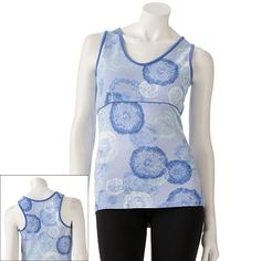 Pair this pretty Danskin Dandelion Racerback Tank from Kohl's with our mint FitBuds for a comfy gym look. #Fit4Life
