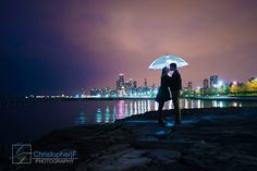 Chicago Engagement Photos in the rain - by Christopher|F Photography - www.ChristopherFPhotography.com